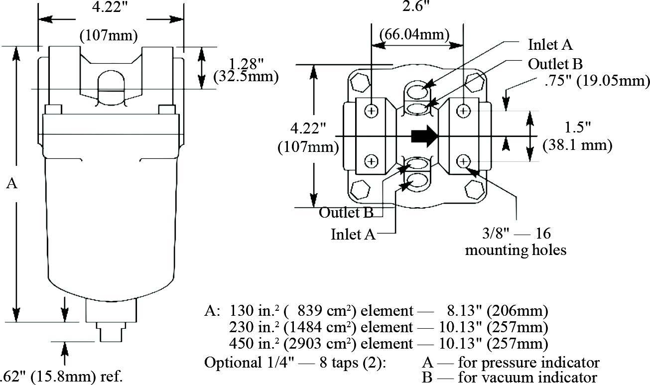 low pressure t–line filters : maradyne corporation pressure filter diagram #5